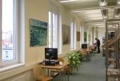 Ausstellung in der Bibliothek in Weißensee