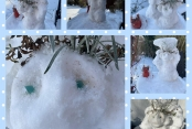 Giseles Schneeskulptur