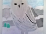 Weiße Tiere im weißen Schnee