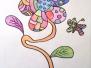 Frühlingsblumen gezeichnet