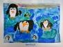 Pinguine auf der Eisscholle