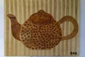 Frau Schröder malte mit Kaffee